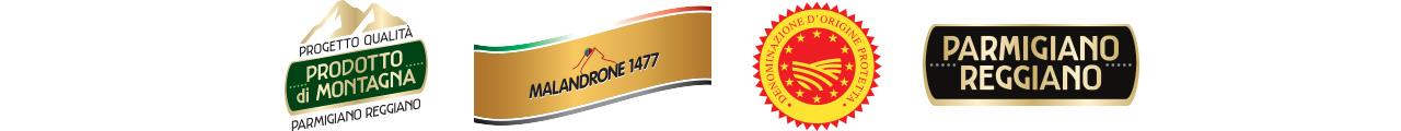 Parmigiano Reggiano DOP Malandrone 1477 certificazioni
